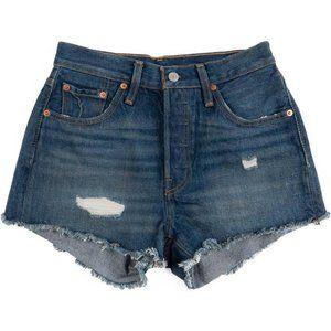 Levi's 501 Distressed Denim Shorts Sz 29